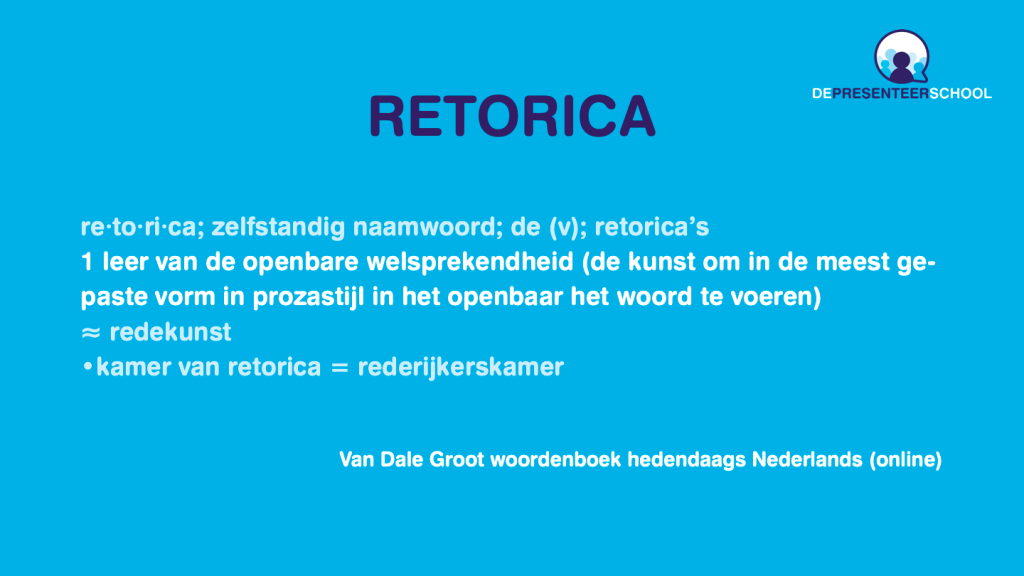 Retorica in de Van Dale